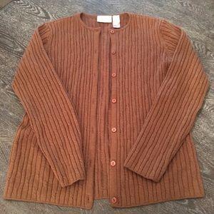 Tan Cardigan Sweater (Liz Claiborne)
